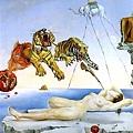 《由飛舞的蜜蜂引起的夢》,達利作,1944年