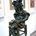 雕塑  坐著的唐吉柯德