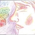 crayon on indexcard