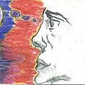 pencil and crayon on indexcard