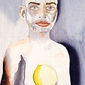 Self-Portrait with Lemon Heart , 2008