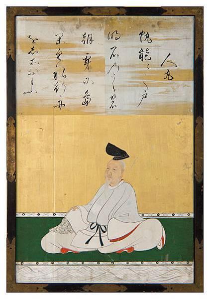 柿本人麻呂(狩野探幽《三十六歌仙額》)