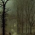 Lovers in a wood by moonlight -1873