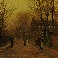 A Village Street on Sunday Eve -1881