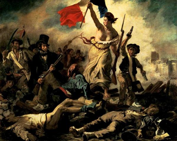 德拉克洛瓦(Eugène Delacroix)自由引導人民