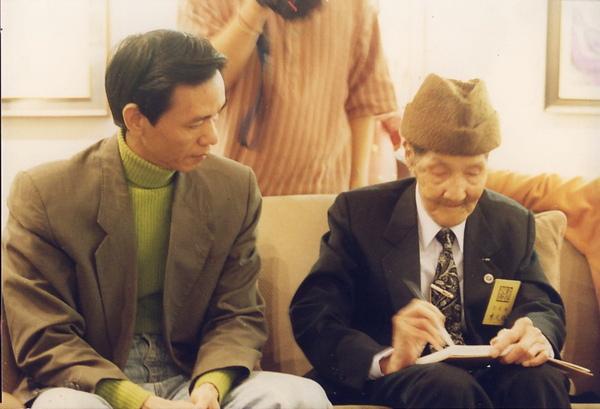 阿盛與布袋戲大師李天祿
