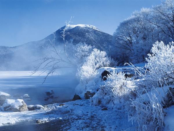 冬天的阿寒湖