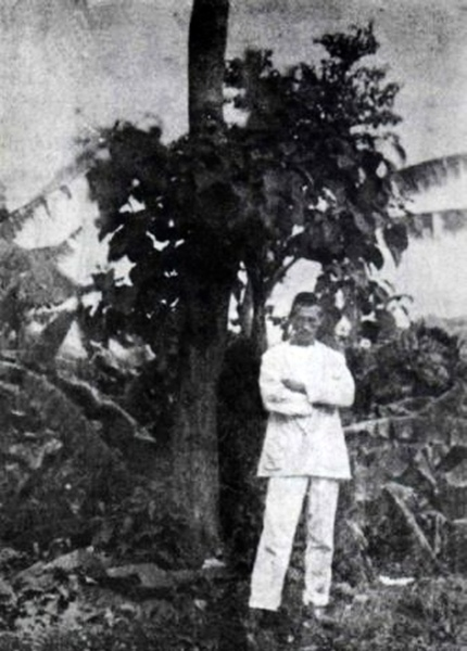 Arthur Rimbaud (self-portrait) in Harar in 1883