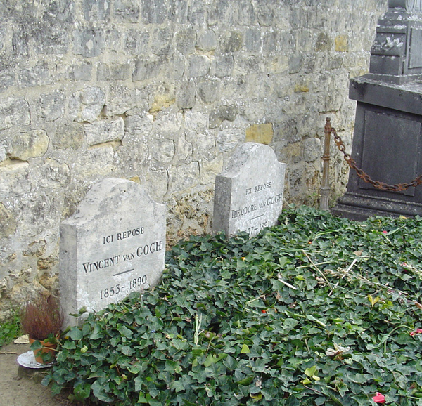 Vincent and Theo van Gogh's graves at the cemetery of Auvers sur Oise