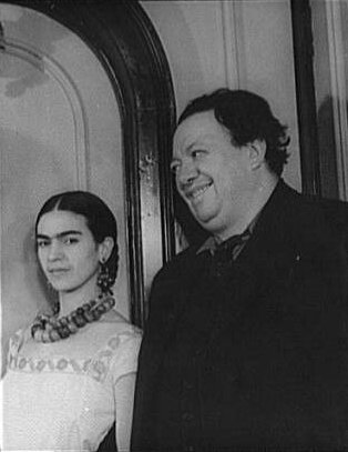 Frida Kahlo with Diego Rivera in 1932, by Carl Van Vecht