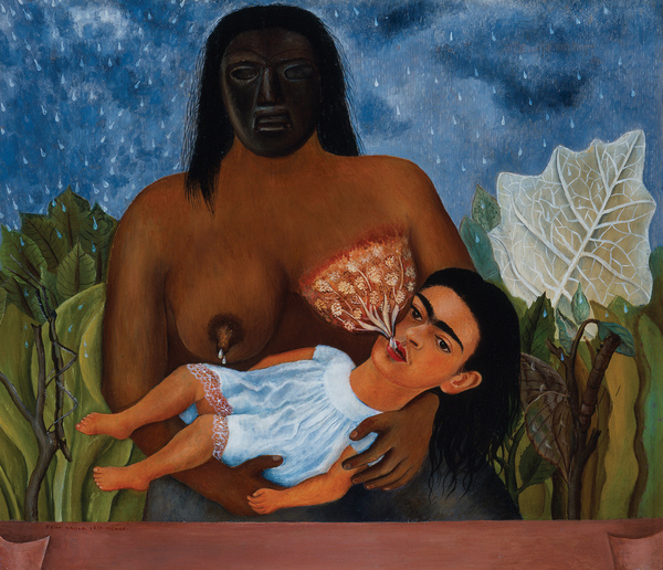 Frida Kahlo - My Nurse and I, 1937. Oil on metal