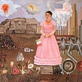 Frida Kahlo - Self-Portrait on the Borderline between Mexico and the United States c.1932