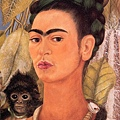 Frida Kahlo - Self-Portrait with Monkey c.1938