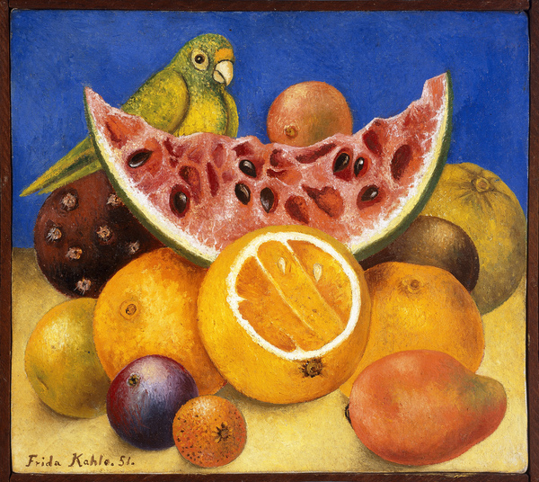 Frida Kahlo - Still Life with Parrot and Fruit, 1951