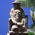 Frida Kahlo 在墨西哥城 Coyoacán 的 Casa Azul 卡薩阿祖爾(青瓦台)
