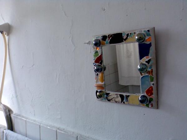 洗手間裏的照腰鏡