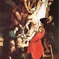 從十字架上解下的基督,是三幅聖堂上連續作品最中央的一幅油畫(比利時安特衛普大教堂)
