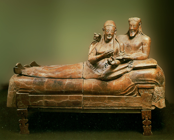 伊特魯里亞藝術:卡厄瑞石棺﹝Sarcophagus from Caere﹞約西元前 520 年