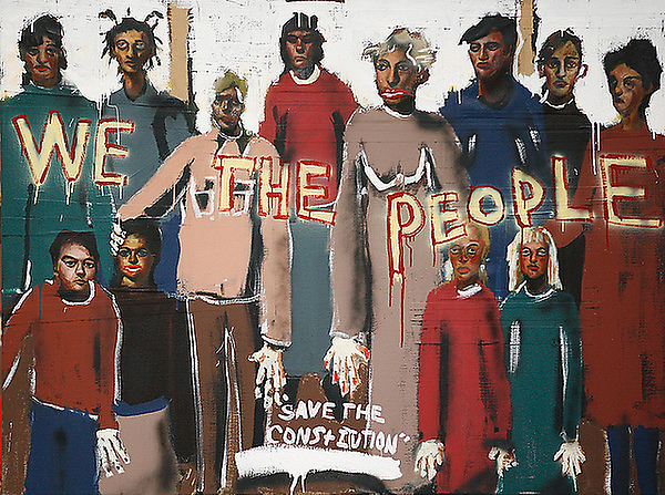 John Cougar Mellencamp painting titled 「We the people」
