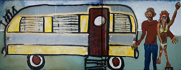John Cougar Mellencamp painting
