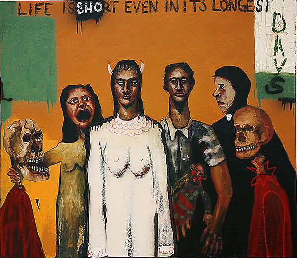 John Cougar Mellencamp painting titled 「Life is short」