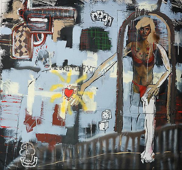 John Cougar Mellencamp painting titled 「sin」