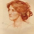 John William Waterhouse - Study For Gather Ye Rosebuds