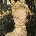 John William Waterhouse - The Lady of Shallot Looking at Lancelot