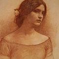 John William Waterhouse - Lady Clare (study)