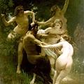 John William Waterhouse - Nymphs and Satyr (1873)