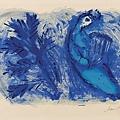 """Marc Chagall - Copertina, (da """"La Bibbia""""), 1956"""