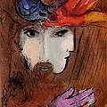 """Marc Chagall - David e Bathscheba,, (da """"La Bibbia""""), 1956"""