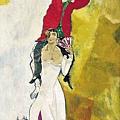 Marc Chagall - Double portrat au verre de vin (1917)Centre Pompidou Par