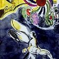 Marc Chagall - Glasmalerei nach