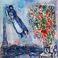 Marc Chagall - Les Maries Dans Le Ciel de Paris
