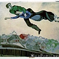 Marc Chagall - Over the town by Marc Chagall, 1914-1918