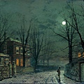 The Old Hall Under Moonlight 1886