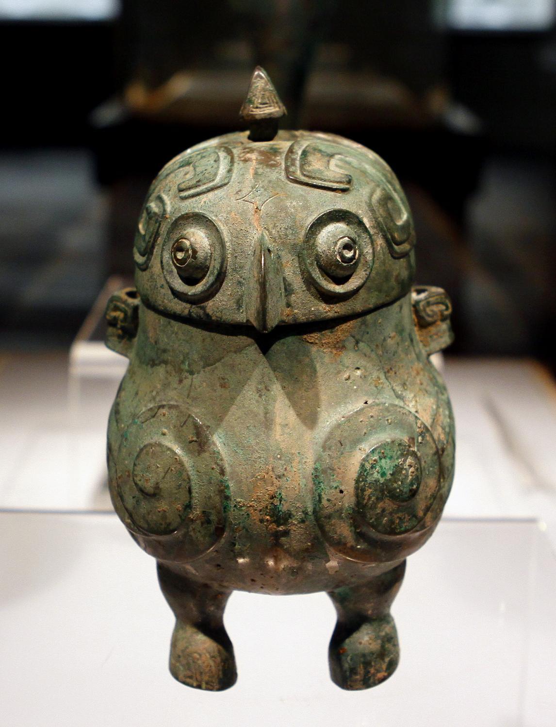 山西博物館裡頭這尊商朝青銅器鴞卣