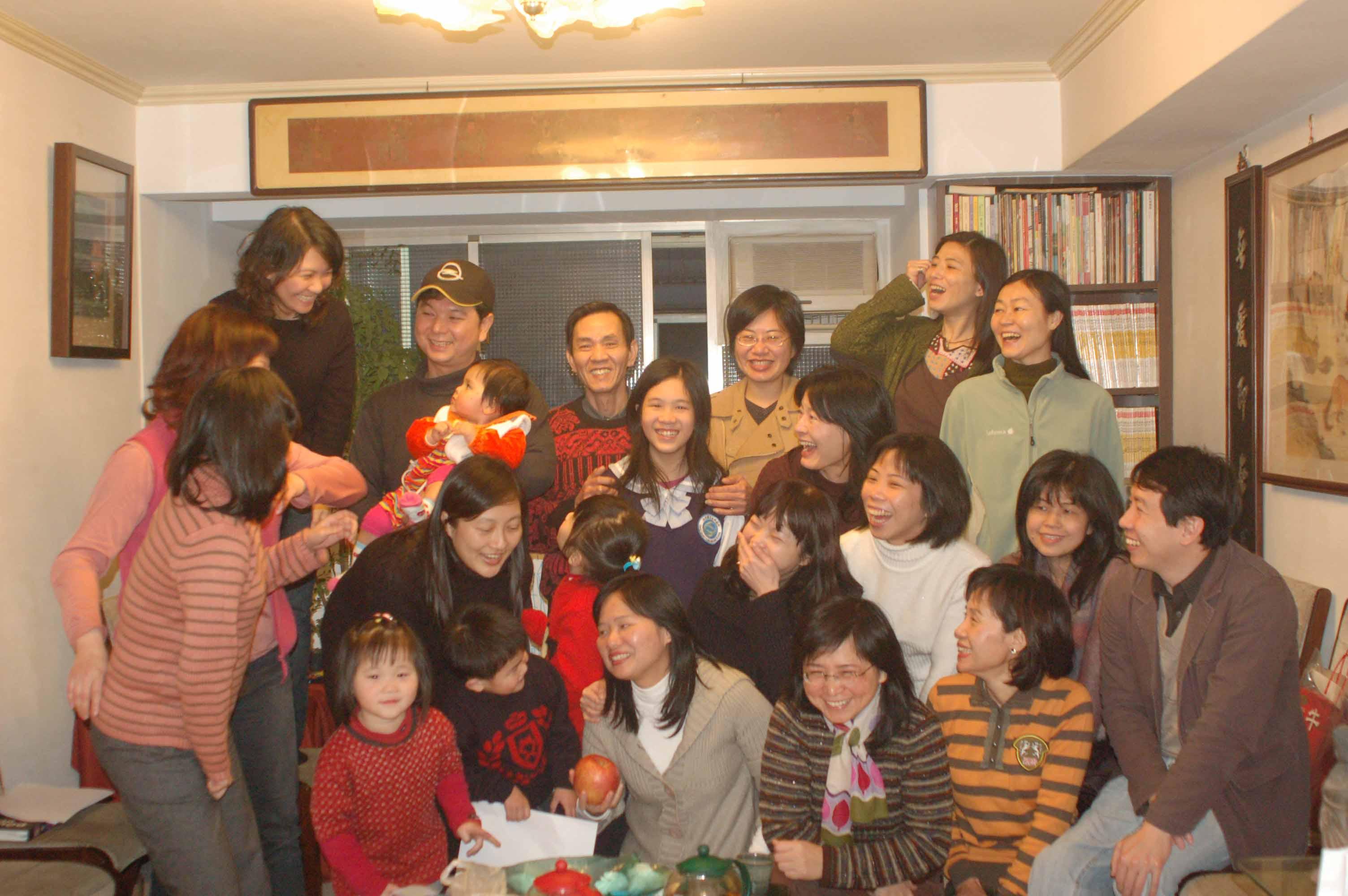 2008年2月18日 向盛師拜年 & 李常棣周歲慶