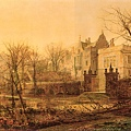 Knostrop Hall, Early Morning -1870