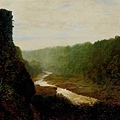 Landscape with a winding river -1868