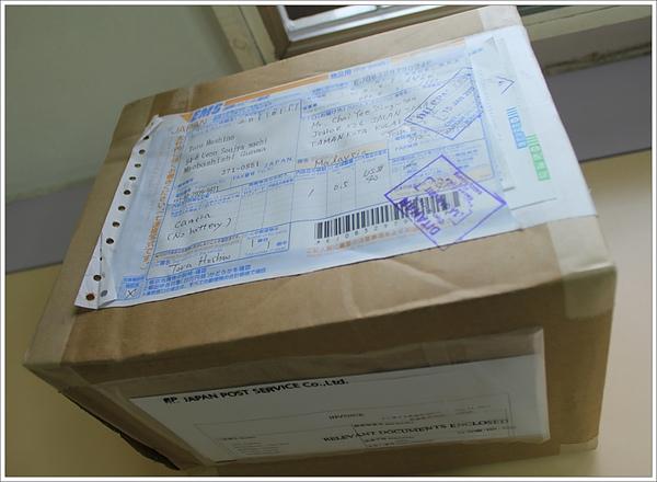 從日本寄來的包裹!!