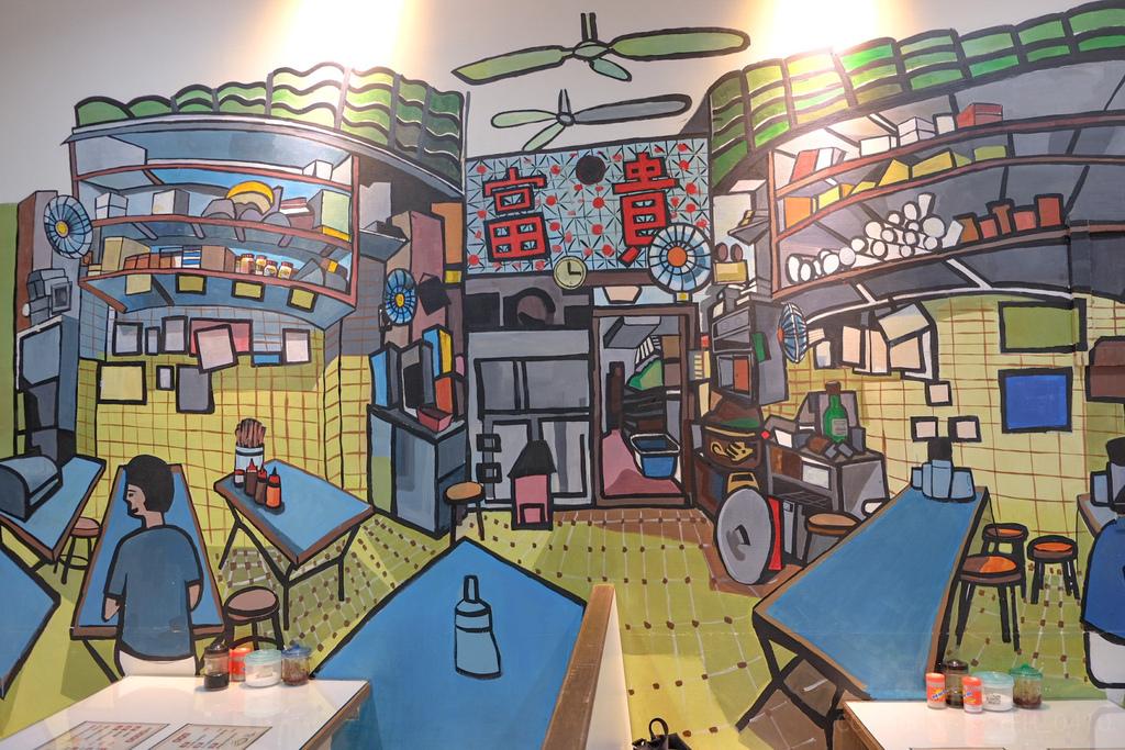 富貴餐室 壁畫