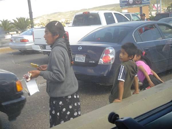 邊界公路的孩童