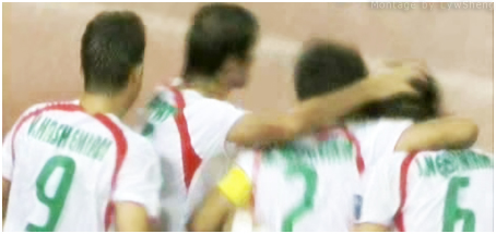 Iran celebrated second Goal against China