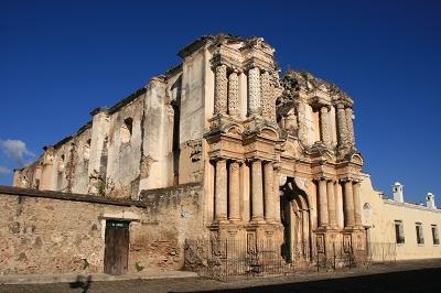 地震後的廢墟