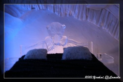 ICE HOTEL-有熊出沒的房