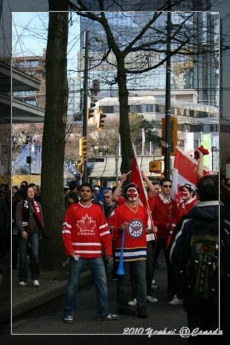 溫哥華街頭-到處都有支持者