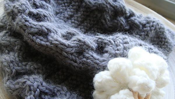 麻花編織毛線帽