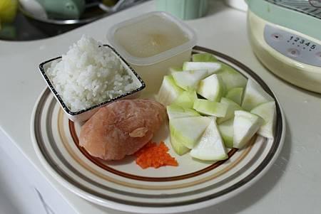 絲瓜雞肉粥-1
